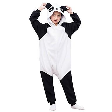 Kigurumi plišana pidžama Panda Onesie pidžama Flis Crna / Bijela Cosplay Za Dečki i cure Zivotinja Odjeća Za Apavanje Crtani film Festival / Praznik Kostimi