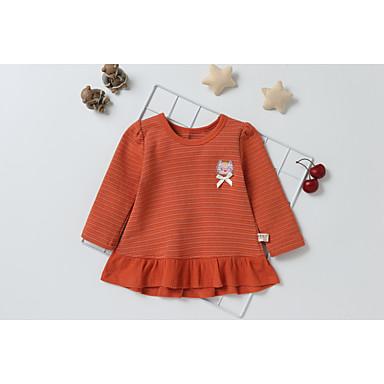 povoljno Majice za bebe-Dijete Djevojčice Osnovni Dnevno Crno-crvena Kolaž Kolaž Dugih rukava Duga Bluza žuta / Dijete koje je tek prohodalo