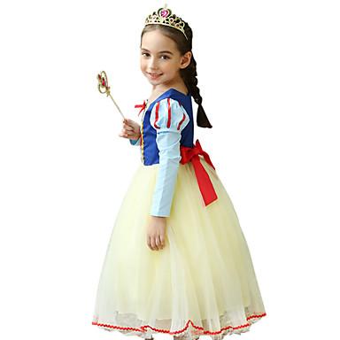 Princeza Cosplay Nošnje Dječji Djevojčice Haljine Mesh Božić Halloween Karneval Festival / Praznik Til Svila Bijela Karneval kostime Čipka