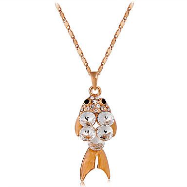 Žene Vedro Kristal Ogrlice s privjeskom Luka Figaro Ribe Romantični Moda Elegantno Pozlaćeni Krom Imitacija dijamanta Zlato 45 cm Ogrlice Jewelry 1pc Za Dnevno Formalan