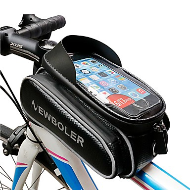 Mobitel Bag Bike Frame Bag 5.5 - 6.2 inch Biciklizam za Samsung Galaxy S6 edge iPhone 8 Plus / 7 Plus / 6S Plus / 6 Plus iPhone X Crn Mountain Bike biciklom na cesti Biciklizam / Bicikl / iPhone XR