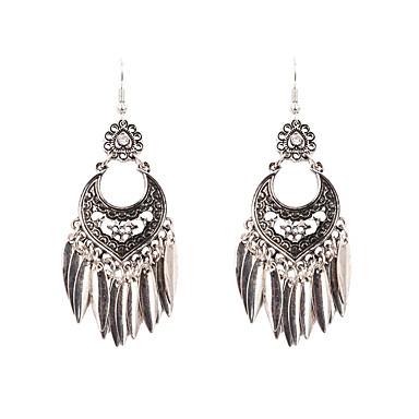 preiswerte Vintage Ohrringe-Damen Tropfen-Ohrringe Schick Retro Ohrringe Schmuck Silber Für Party Alltag 1 Paar