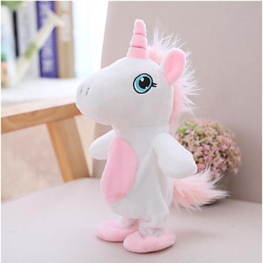Unicorn Talking Stuffed Animals Plush Toy Animals Walking Talking