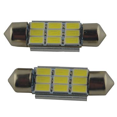 preiswerte Auto Lampen-2pcs 39mm / 36mm / 41mm Auto Leuchtbirnen 2W SMD 5630 215lm 9 Leselampe