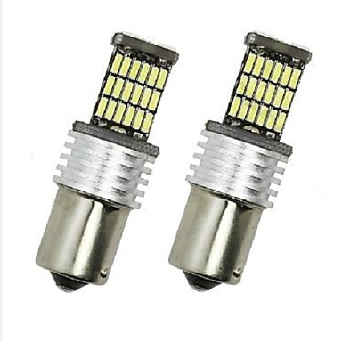 4 ชิ้น BA15S(1156) รถยนต์ Light Bulbs 6 W SMD 4014 700 lm LED ไฟท้าย For Universal