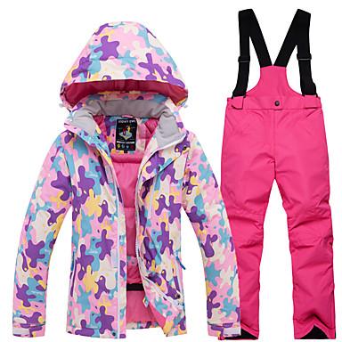 e57bb08ac226 ARCTIC QUEEN Boys  Girls  Ski Jacket with Pants Windproof Rain-Proof ...