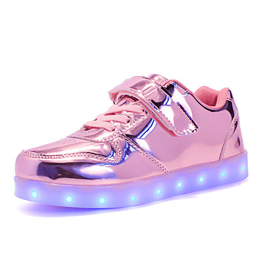 cheap Kids' LED Shoes-Boys' LED Shoes PU Sneakers Little Kids(4-7ys) / Big Kids(7years +) LED Gold / Silver / Pink Fall / Winter