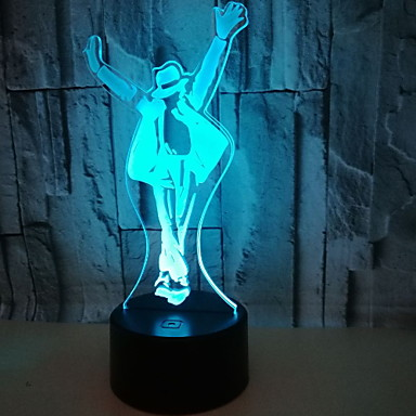 1pc 3D noćno svjetlo Toplo bijelo Cool 5 V