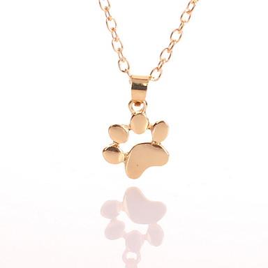 povoljno Modne ogrlice-Žene Ogrlice s privjeskom Rolo Mačka Cat Claw Jednostavan Moda Slatka Style Krom Zlato Pink 45 cm Ogrlice Jewelry 1pc Za Dnevno