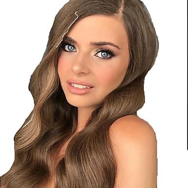 povoljno Ekstenzije od ljudske kose-Ravan kroj Remy kosa Produžetak 35.5 inch Crna Smeđa Isprepliće ljudske kose Modni dizajn Jednostavan za nošenje Žene Proširenja ljudske kose