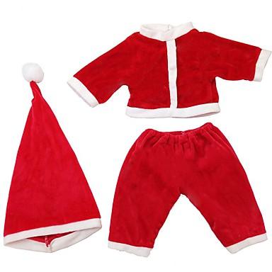 levne Doplňky pro panenky-Příslušenství pro panenky Reborn Dolls Znovuzrozená bábätka Vánoce Děvčata Roztomilý Děti a dospívající Látka Děti Unisex Hračky Dárek 3 pcs