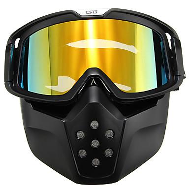 povoljno Motori i quadovi-motocikl kaciga žuta leća odvojivi naočale modularna maska lice štit