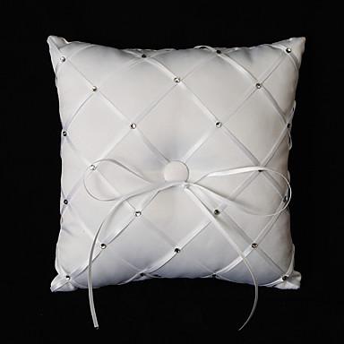 Silk Like Satin Akril Diamond Saten ring pillow Vjenčanje Sva doba