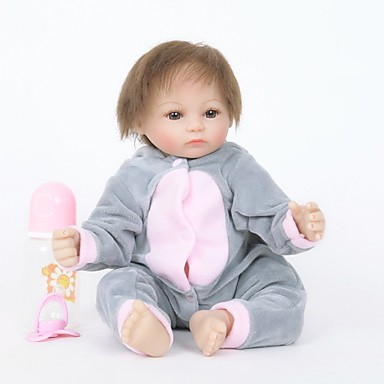 FeelWind Autentične bebe Djevojka lutka Za ženske bebe 18 inch Silikon Vinil - vjeran Ručno Izrađen Slatko Sigurno za djecu Djeca / Teen Non Toxic Dječjom Uniseks / Djevojčice Igračke za kućne