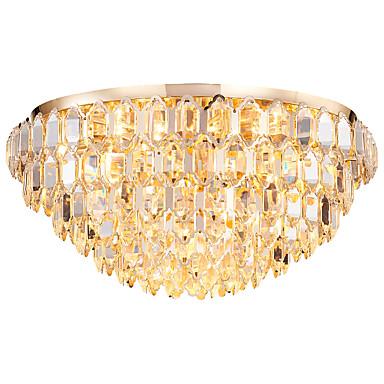 QIHengZhaoMing Flush Svjetla Ambient Light Electroplated Crystal 110-120V / 220-240V Meleg fehér