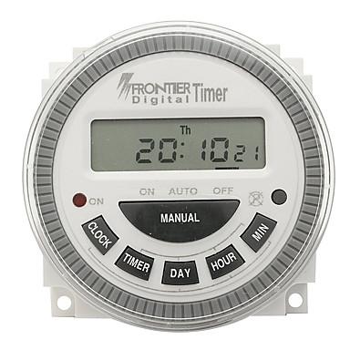 voordelige Test-, meet- & inspectieapparatuur-Digital LCD Power Elektronische tijdschakelklok AC 220V-240V Lichtgewicht / Meten / Pro