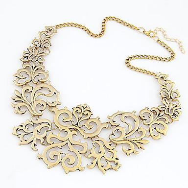 povoljno Modne ogrlice-Žene Izjava Ogrlice Cvijetan Vintage Europska Moda zdepast Krom Zlato Pink 40 cm Ogrlice Jewelry 1pc Za Dnevno