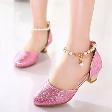 preiswerte Schuhe für Kinder-Mädchen Komfort / Tiny Heels für Teens Kunststoff High Heels Kleine Kinder (4-7 Jahre) / Große Kinder (ab 7 Jahren) Weiß / Rosa Sommer