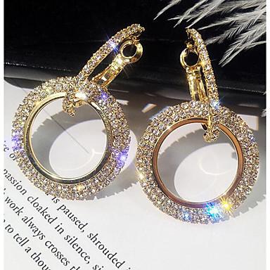povoljno Modne naušnice-Žene Viseće naušnice asfaltirati Jednostavan Korejski Elegantno Bling Bling Svaki dan Imitacija dijamanta Naušnice Jewelry Zlato / Srebro Za Rođendan Dnevno 1 par