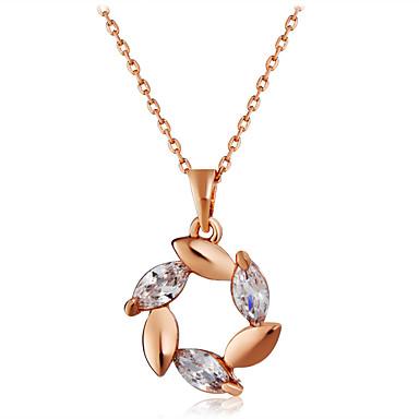Žene Vedro Kristal Ogrlice s privjeskom Singapur Cvijet Klasik Moda Elegantno Krom Pozlata od crvenog zlata Rose Gold 44 cm Ogrlice Jewelry 1pc Za Dnevno Formalan