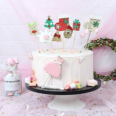 Figure za torte Klasični Tema / Odmor / Vintage Tema Umjetnička / Retro / Jedinstven dizajn Platno Party / Party / večernja odjeća s Isprepleteni dijelovi / Šljokice 1 pcs OPP