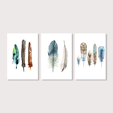 cheap Wall Art-Print Stretched Canvas Prints - Modern Ethnic Modern Three Panels Art Prints