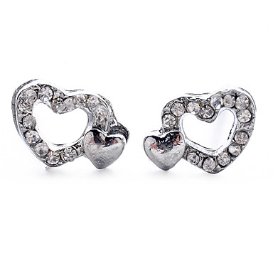 75fcef2ec Women's Classic Stud Earrings Imitation Diamond Earrings Heart Sweet Cute  Jewelry Silver For Date Street 1 Pair 7105065 2019 – $3.99