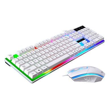 cheap Mice & Keyboards-LITBest G21 USB Wired Mouse Keyboard Combo Color Gradient Mechanical Keyboard / Gaming Keyboard Luminous Gaming Mouse 1600 dpi