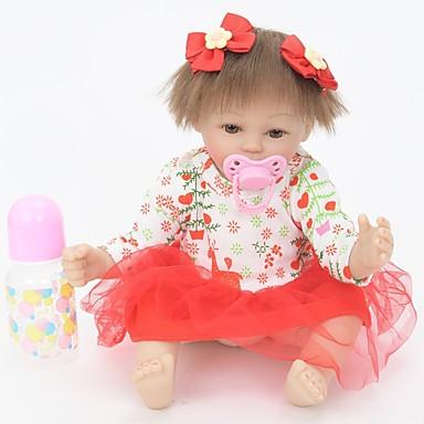 FeelWind Autentične bebe Djevojka lutka Za ženske bebe 18 inch Silikon Vinil - vjeran Ručno Izrađen Slatko Sigurno za djecu Djeca / Teen Non Toxic Dječjom Uniseks Igračke za kućne ljubimce Poklon