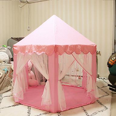 cheap Outdoor Fun & Sports-Children Princess Pink Castle Tents Portable Boys Girls Indoor Outdoor Garden Folding Play Tent Lodge Kids Balls Pool Playhouse
