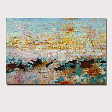 Hang oslikana uljanim bojama Ručno oslikana - Sažetak Pejzaž Comtemporary Moderna Uključi Unutarnji okvir