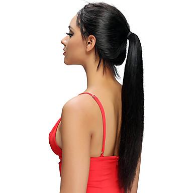 Remy kosa Lace Front Perika Asimetrična frizura stil Brazilska kosa Silky Straight Natural Perika 130% Gustoća kose Prirodno Rasprodaja Udobnost 100% Djevica Žene Dug Perike s ljudskom kosom Luckysnow