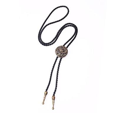 levne Pánské šperky-Pánské Y Náhrdelník dlouhý náhrdelník Klasika Drak Klasické Steampunk Koženka Starožitný bronz 95.5 cm Náhrdelníky Šperky 1ks Pro Dar Street