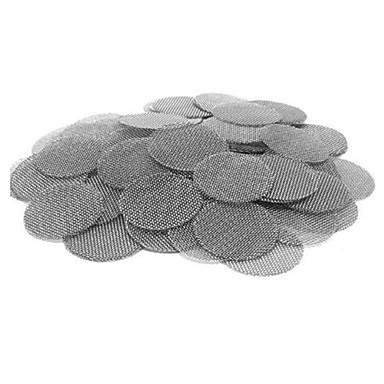 preiswerte Skulpturen-100 stücke multifunktionale wasserpfeife edelstahl tabak rauchen zubehör metallfilter rauchrohre bildschirm