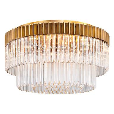 QIHengZhaoMing 9-Light Flush Svjetla Ambient Light Electroplated Crystal 110-120V / 220-240V Meleg fehér