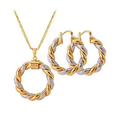 levne Dámské šperky-Dámské Sady šperků Dvoubarevné dámy Dvoubarevné Pokovená platina Pozlacené Náušnice Šperky Barva obrazovky Pro Svatební Párty Ležérní / Náhrdelníky