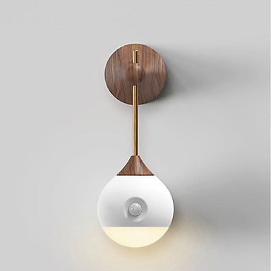 1pc Noćno svjetlo na zidu Toplo bijelo USB Infracrveni senzor / Bežično / Jednostavno za nošenje 5 V