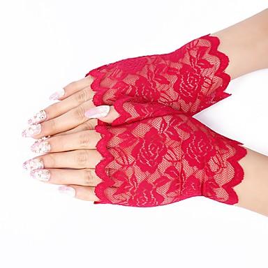 preiswerte Handschuhe für die Party-Spitze Handgelenk-Länge Handschuh Spitze / Handschuhe Mit Einfarbig