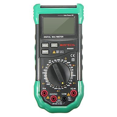 voordelige Test-, meet- & inspectieapparatuur-MAstech MS8261 digitale multimeter 3 1/2 ac dc v / acapaciteit weerstand transistor tester meter achtergrondverlichting