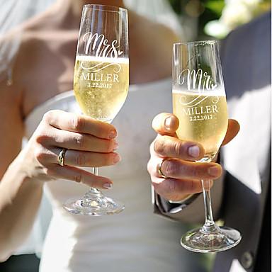 staklo / Bambus vlakna / Reciklirani papir Nazdravljajući flaute Poklon kutija šalica / Vjenčanje Sva doba