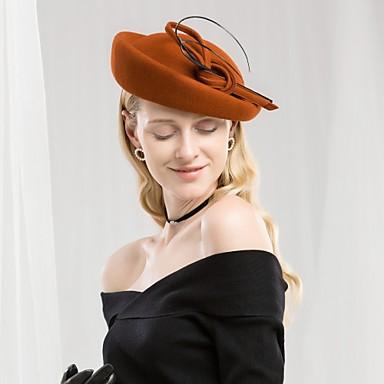 100% vuna Kentucky Derby Hat / Šeširi s Mašnica 1pc Kauzalni / Dnevni Nosite Glava