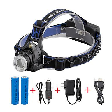 U'King Headlamps Bike Headlight 2000 lm นาฬิกา LED LED 1 อิมิเตอร์ 3 โหมดโคมไฟ with Batteries and Chargers zoomable ปรับจุดโฟกัสได้ ขนาดกระทัดรัด พกพาง่าย / อลูมิเนียมอัลลอย