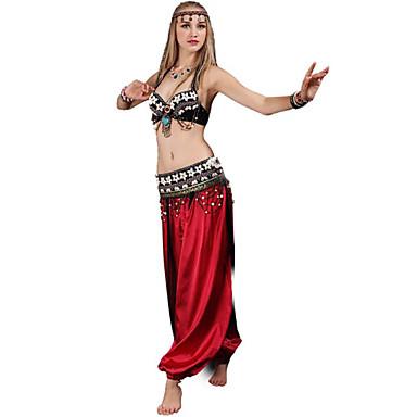 Trbušni ples Outfits Žene Trening / Seksi blagdanski kostimi Poliester Nabori Bez rukávů Sudačko Grudnjak / Struk Pribor