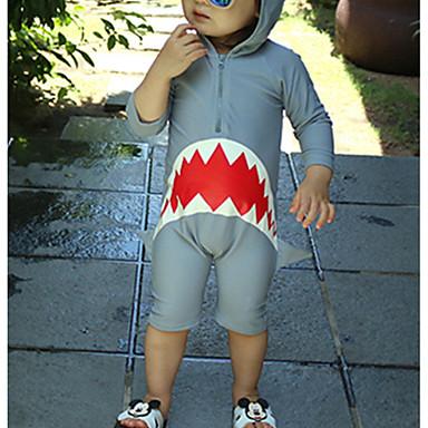 preiswerte Badebekleidung für Jungen-Kinder Jungen Sport Geometrisch Baumwolle Bademode Grau