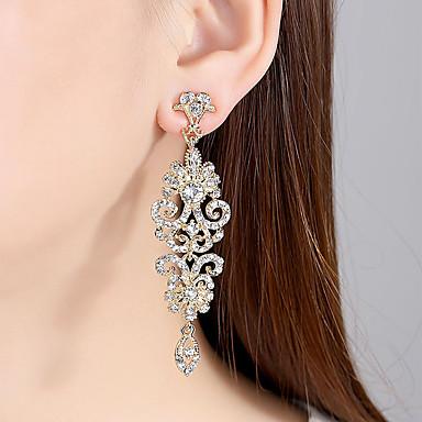 Žene Vedro Kubični Zirconia Naušnica Klasičan Stilski Naušnice Jewelry Zlato / Pink Za Vjenčanje Party 1 par