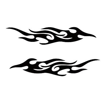 Hvit / Svart Bil Klistremerker Forretning / Sport Hette klistremerker / Lysetiketter Flamme Klistremerker