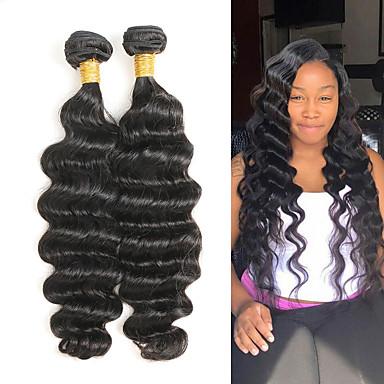 povoljno Ekstenzije od ljudske kose-2 Paketi Brazilska kosa Duboko Val Remy kosa Ekstenzije od ljudske kose 8-28 inch Isprepliće ljudske kose Nježno Najbolja kvaliteta Novi Dolazak Proširenja ljudske kose