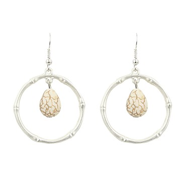Žene Viseće naušnice Klasičan Naušnice Jewelry Bež / bijelo Za Dar Dnevno 1 par