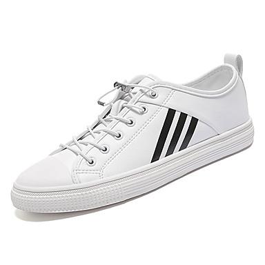 [$36.37] Per uomo Scarpe comfort PU (Poliuretano) Primavera Casual Sneakers Antiscivolo Monocolore Bianco Nero Beige