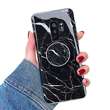 cheap Marble Case-Case For Samsung Galaxy S9 / S9 Plus / S8 Plus with Stand / IMD Back Cover Marble Soft TPU